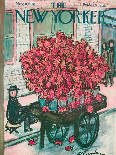 The New Yorker Cover - November 8, 1958-Abe Birnbaum-Premium Giclee Print