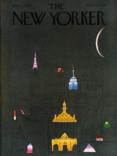 The New Yorker Cover - October 1, 1979-R.O. Blechman-Premium Giclee Print