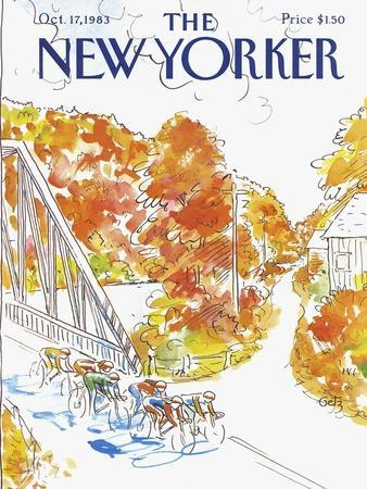 The New Yorker Cover - October 17, 1983-Arthur Getz-Premium Giclee Print