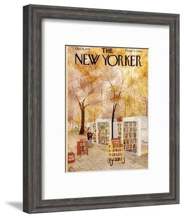 The New Yorker Cover - October 18, 1976-Charles E. Martin-Framed Premium Giclee Print