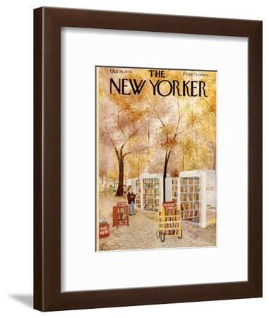 The New Yorker Cover - October 18, 1976-Charles E. Martin-Framed Premium Giclee Print
