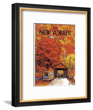 The New Yorker Cover - October 19, 1981-Arthur Getz-Framed Premium Giclee Print