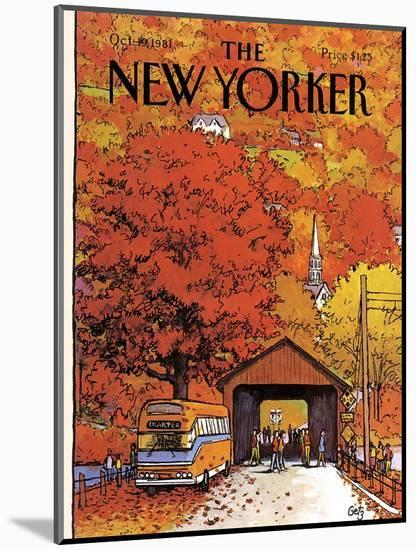 The New Yorker Cover - October 19, 1981-Arthur Getz-Mounted Premium Giclee Print