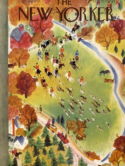 The New Yorker Cover - October 22, 1938-Roger Duvoisin-Premium Giclee Print