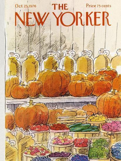 The New Yorker Cover - October 25, 1976-Arthur Getz-Premium Giclee Print