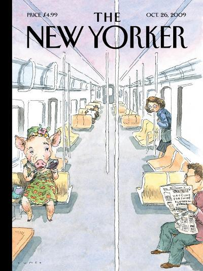 The New Yorker Cover - October 26, 2009-John Cuneo-Premium Giclee Print