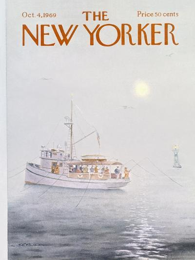 The New Yorker Cover - October 4, 1969-Albert Hubbell-Premium Giclee Print