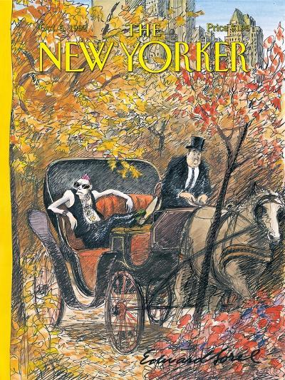 The New Yorker Cover - October 5, 1992-Edward Sorel-Premium Giclee Print