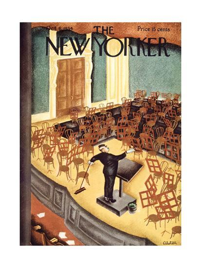 The New Yorker Cover - October 6, 1934-Charles Alston-Premium Giclee Print