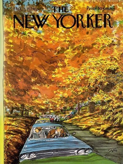 The New Yorker Cover - October 7, 1974-Charles Saxon-Premium Giclee Print