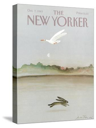 The New Yorker Cover - October 7, 1985-Andre Francois-Stretched Canvas Print