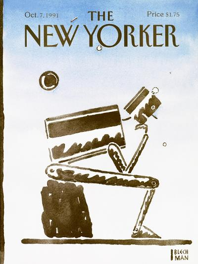 The New Yorker Cover - October 7, 1991-R.O. Blechman-Premium Giclee Print