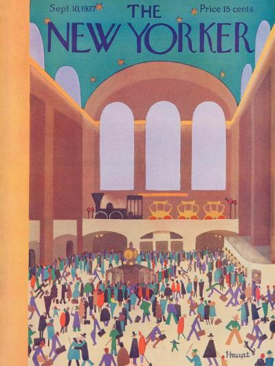 The New Yorker Cover - September 10, 1927-Theodore G. Haupt-Premium Giclee Print