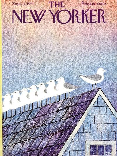 The New Yorker Cover - September 11, 1971-Charles E. Martin-Premium Giclee Print