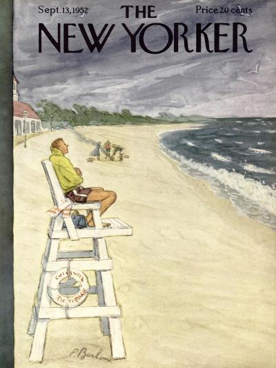 The New Yorker Cover - September 13, 1952-Perry Barlow-Premium Giclee Print