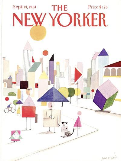 The New Yorker Cover - September 14, 1981-Paul Degen-Premium Giclee Print