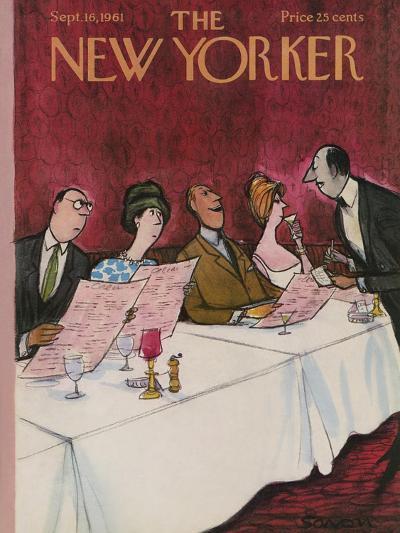 The New Yorker Cover - September 16, 1961-Charles Saxon-Premium Giclee Print
