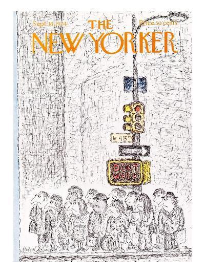The New Yorker Cover - September 16, 1974-Edward Koren-Premium Giclee Print
