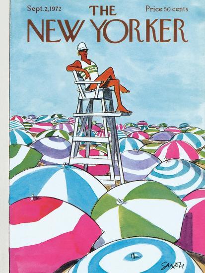 The New Yorker Cover - September 2, 1972-Charles Saxon-Premium Giclee Print