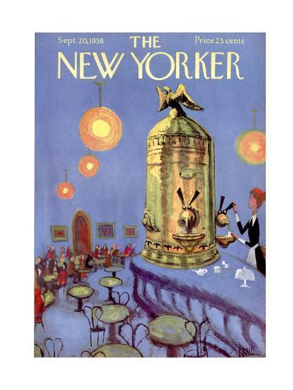 The New Yorker Cover - September 20, 1958-Robert Kraus-Premium Giclee Print