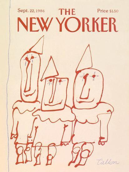 The New Yorker Cover - September 22, 1986-Robert Tallon-Premium Giclee Print