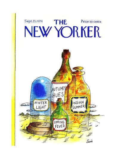 The New Yorker Cover - September 23, 1974-Jean-Claude Suares-Premium Giclee Print