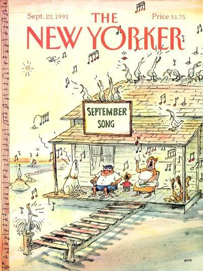 The New Yorker Cover - September 23, 1991-George Booth-Premium Giclee Print