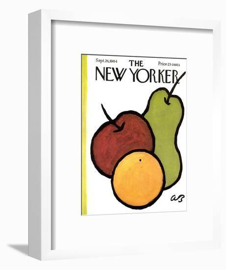 The New Yorker Cover - September 26, 1964-Abe Birnbaum-Framed Premium Giclee Print