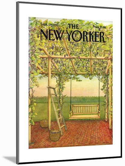 The New Yorker Cover - September 27, 1982-Jenni Oliver-Mounted Premium Giclee Print
