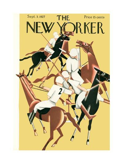 The New Yorker Cover - September 3, 1927-Theodore G. Haupt-Premium Giclee Print