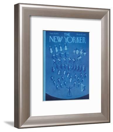 The New Yorker Cover - September 30, 1972-Charles E. Martin-Framed Premium Giclee Print