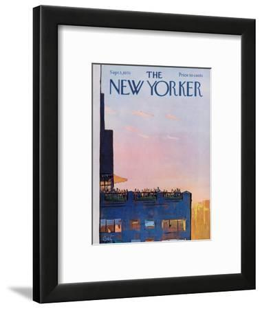 The New Yorker Cover - September 5, 1970-Arthur Getz-Framed Premium Giclee Print