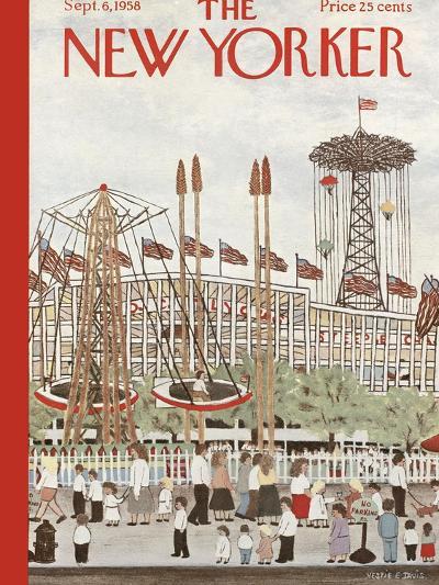 The New Yorker Cover - September 6, 1958-Vestie E. Davis-Premium Giclee Print