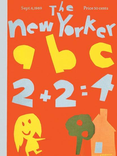 The New Yorker Cover - September 6, 1969-James Stevenson-Premium Giclee Print