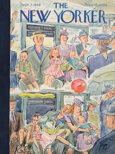 The New Yorker Cover - September 7, 1940-Perry Barlow-Premium Giclee Print