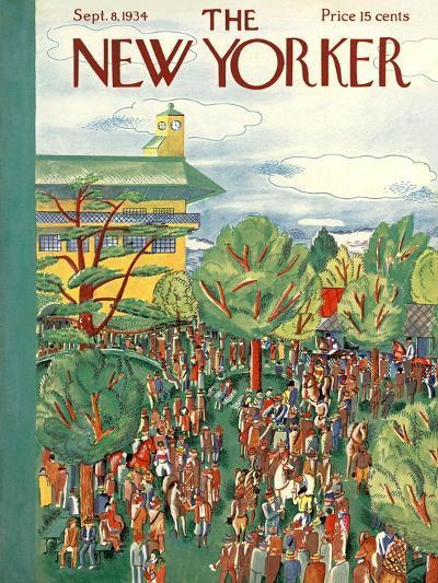 The New Yorker Cover - September 8, 1934-Ilonka Karasz-Premium Giclee Print