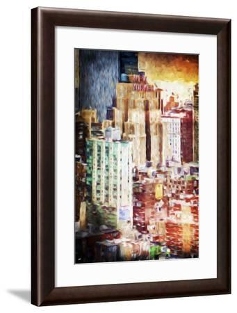 The New Yorker - In the Style of Oil Painting-Philippe Hugonnard-Framed Giclee Print