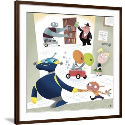 The New Yorker - November 2, 2009-Bob Staake-Framed Premium Giclee Print