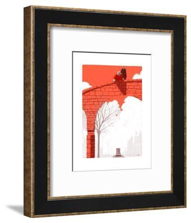 The New Yorker-Simone Massoni-Framed Premium Giclee Print