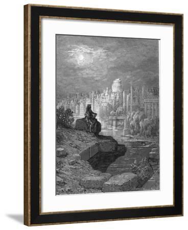 'The New Zealander' Illustration from 'London: a Pilgrimage' by Blanchard Jerrold, 1872-Gustave Dor?-Framed Giclee Print