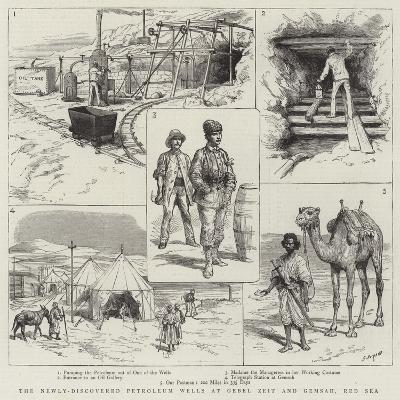 The Newly-Discovered Petroleum Wells at Gebel Zeit and Gemsah, Red Sea-Godefroy Durand-Giclee Print