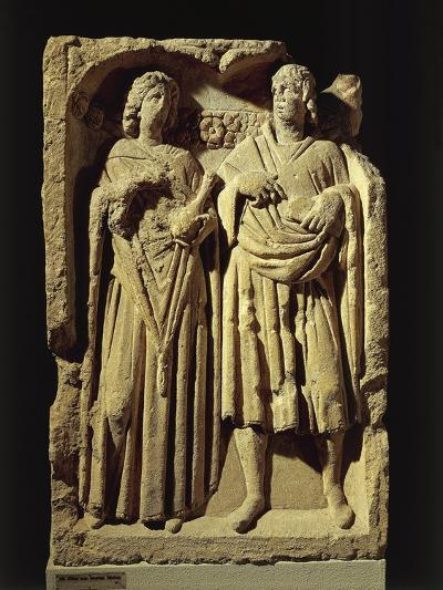 The Newly-Weds, Stone Column with Reliefs--Giclee Print