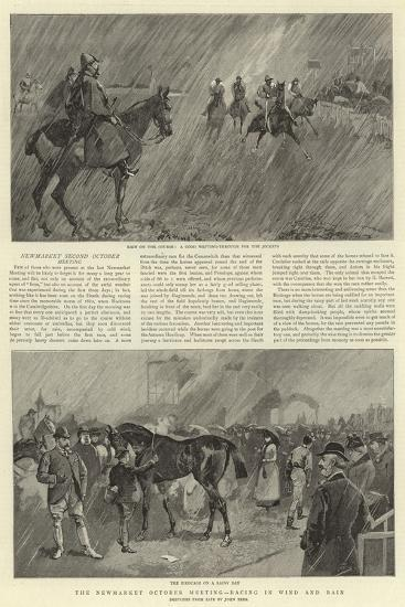 The Newmarket October Meeting, Racing in Wind and Rain--Giclee Print