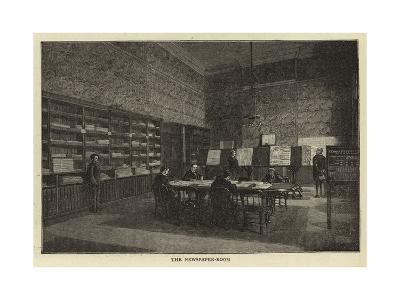 The Newspaper-Room--Giclee Print