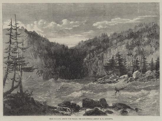 The Niagara Above the Falls-Richard Principal Leitch-Giclee Print