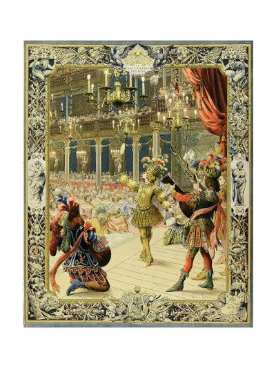 The Night Ballet, Louis XIV Dancing as Sun King-Maurice Leloir-Giclee Print