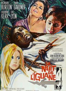 The Night of the Iguana, (AKA La Nuit De L'Iguane), French Poster Art, 1964