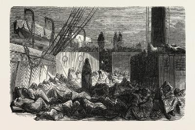The Night on the Vessel, 1855--Giclee Print