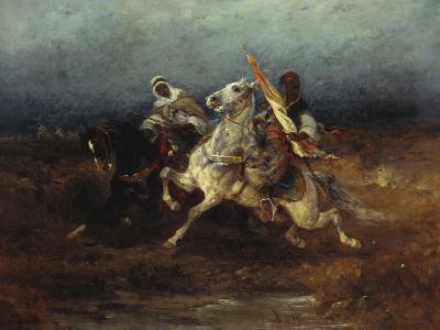 The Night Raid-Adolph Schreyer-Giclee Print