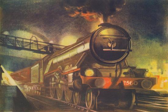 'The Night Scotsman, L.N.E.R., leaving King's Cross', 1940-Unknown-Giclee Print
